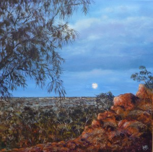 Moonrise over Quilpie